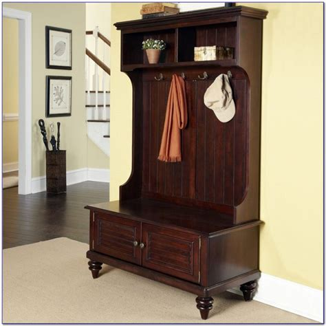 antique hall tree with storage bench antique white hall tree bench bench home design ideas