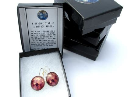 Catily Clear Glasses In Space Earrings 2 pink astronomy glass cabochon earrings