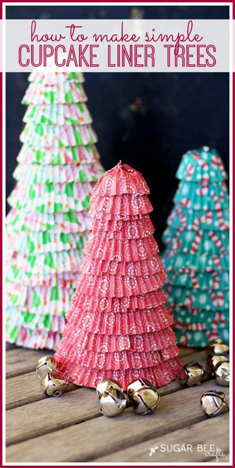 cupcake liner trees cupcake liner trees sugar bee crafts
