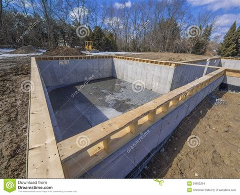concrete basement construction new house foundation construction stock images image 29902254