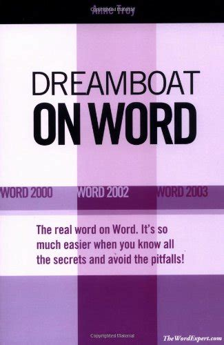 dream boat series dreamboat on word word 2000 word 2002 word 2003 on