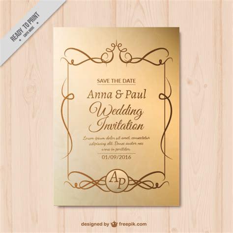 Goldene Hochzeit Einladung by Goldene Hochzeit Einladung Mit Ornamenten Der