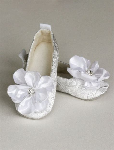 ivory ballet slippers for toddlers silver baby ballet slipper toddler flower shoe in