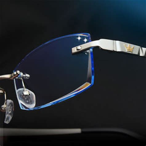 custom made rimless eyewear frame eyeglasses glasses