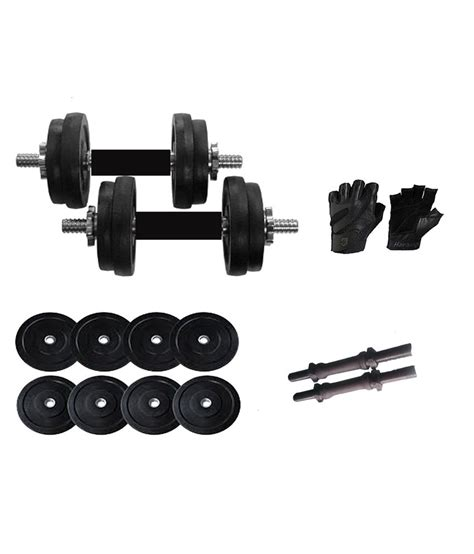 Dumbell 10kg iris 10kg rubber dumbbells with rubber coated dumbbell rods gloves combo buy at best