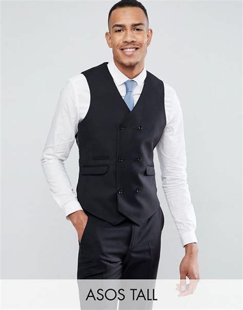 Asos Vest In Black asos asos slim suit vest in black 100 wool