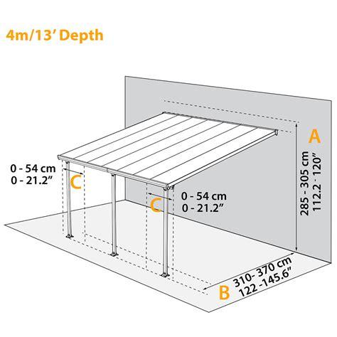 carport holz 4x4 terrassen 252 berdachung feria 4x4 g 228 rtner p 246 tschke