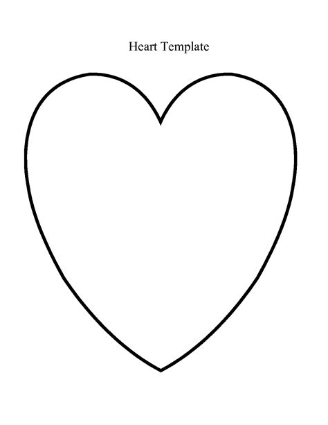 printable heart templates free heart template google search playgroup crafts