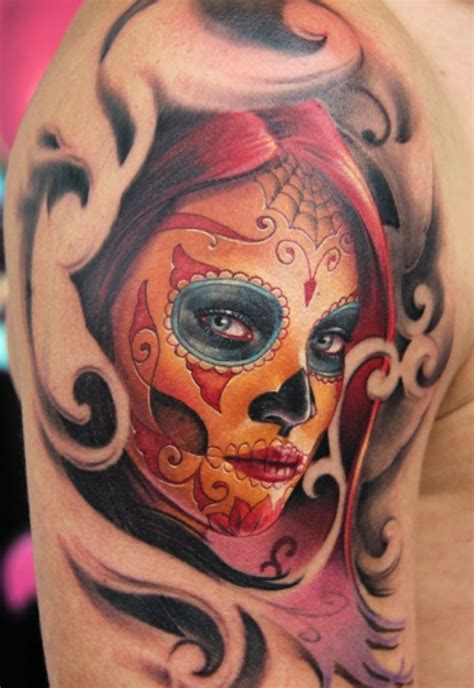 sugar skull tattoo ideas pinterest