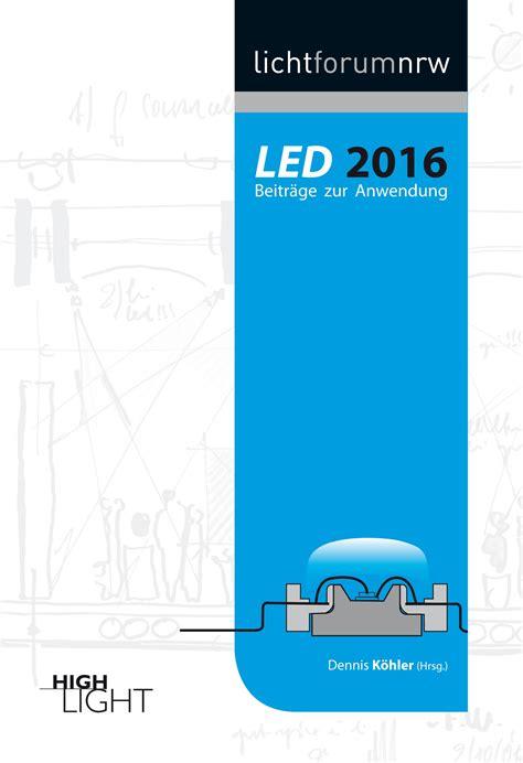 Led 2016 Beitr 228 Ge Zur Anwendung Lichttechnik