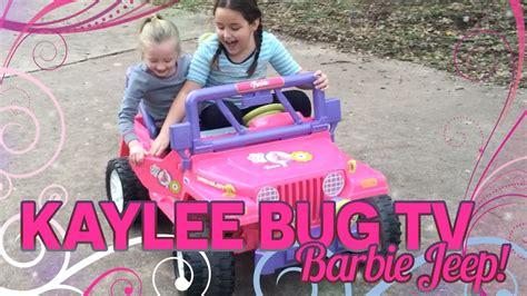 power wheels kids barbie jeep youtube