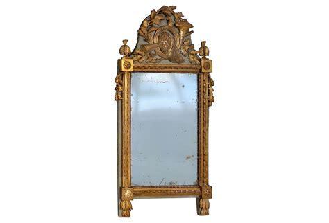 Antique European Carved Gilt wood Mirror   Modernism