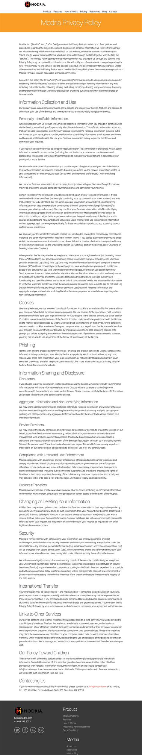 Elegant Privacy Policy Template For Small Business 2018 Privacy Policy Template