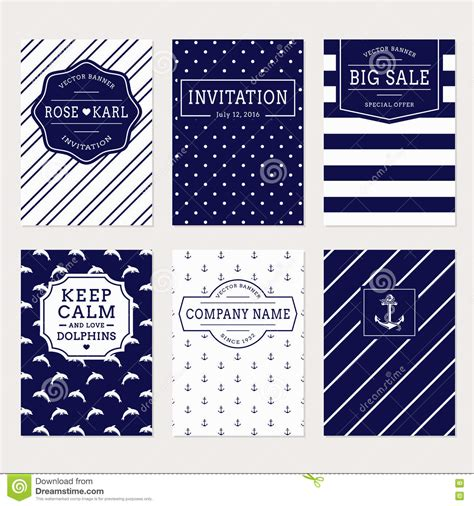 nautical and sea banners vector set stock vector image