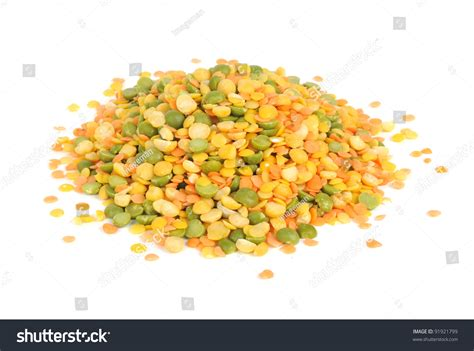 Lentil Split Mix lentils and split peas mix isolated on white background