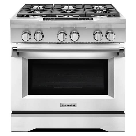 Oven Gas 1 Juta kitchenaid 36 in 5 1 cu ft dual fuel range with