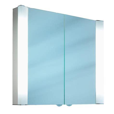 schneider mirrored bathroom cabinet schneider splashline 2 door mirror cabinet 800mm