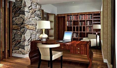 wallpaper designs for dining room small study room design living room sofa and rustic stone walls interior design