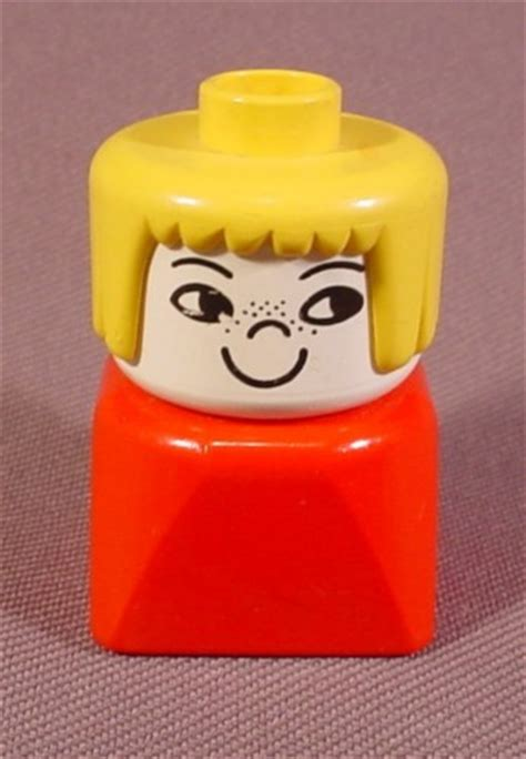 Lego Yellow Hair lego duplo 829 bust figure nose freckles yellow banged hair farm rons