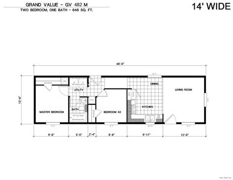 Karsten Floor Plans by Grand Value 482m 2 Bed 1 Bath 648 Sqft Affordable Home