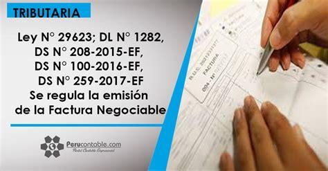 decreto supremo n 220 2015 ef que modifica el reglamento la factura electronica negociable tributaci 243 n