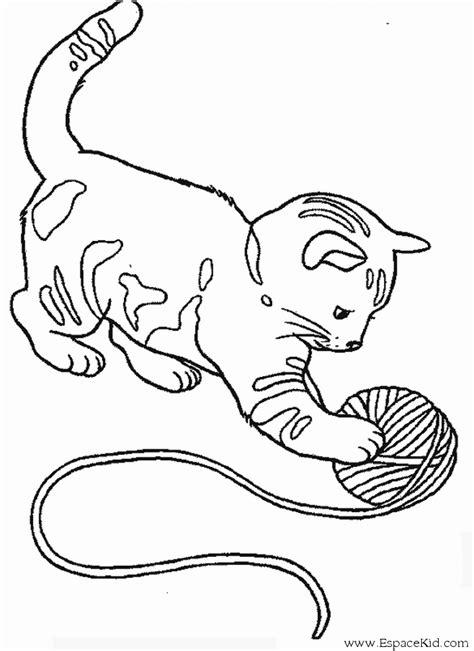 kitten yarn coloring page coloriage chaton et sa pelote de laine 224 imprimer dans les