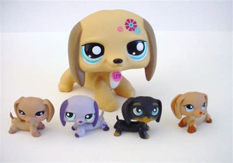 Dachshund Home Decor by Littlest Pet Shop Lps Dachshund Large 5 Inch Plus Striped