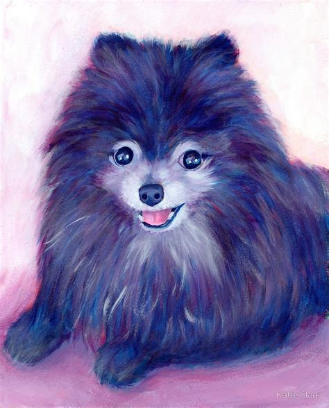 purple pomeranian quot purple pomeranian quot by clark redbubble