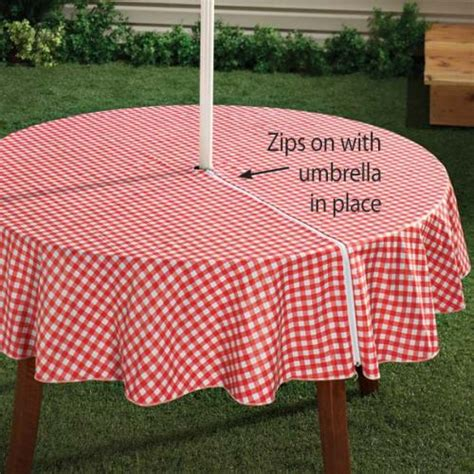 tablecloths for umbrella tables vinyl umbrella table cloths home