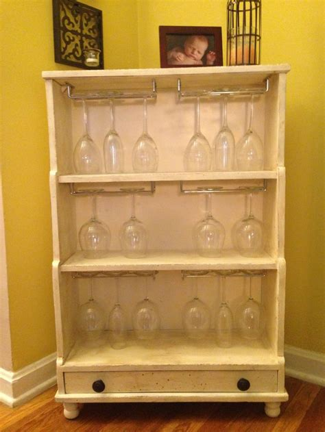 shabby chic wine cabinet shabby chic wine glass rack by maggieannparrish on etsy