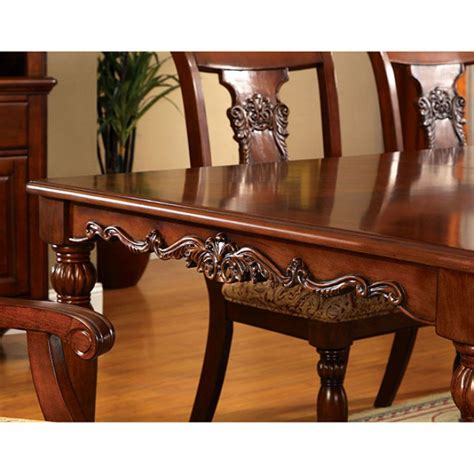 seymour 9pc formal dining turned legs oak finish