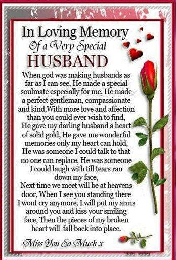 Wedding Anniversary Poems For Husband In Heaven by Husband I Miss Those Who Are To Me But Now