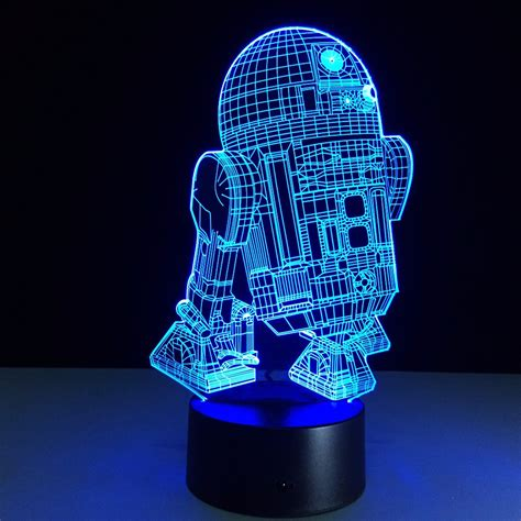star wars led light star wars r2 d2 3d led l