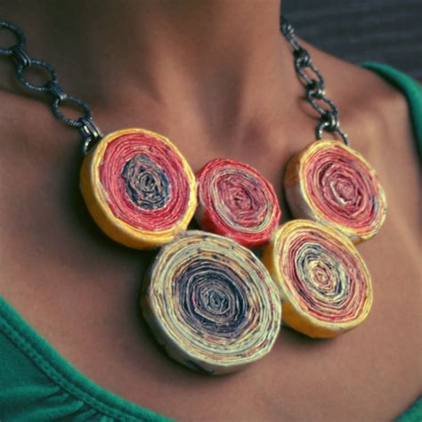 Paper Jewellery Materials - anthropologie necklace