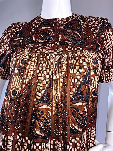 Denim Mocca Line Tribal 1960s joseph magnin vintage tribal print ethnic a line trapeze babydoll dress for sale at 1stdibs