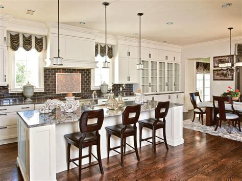Eat In Kitchen Island Designs white functioning transitional kitchen elizabeth