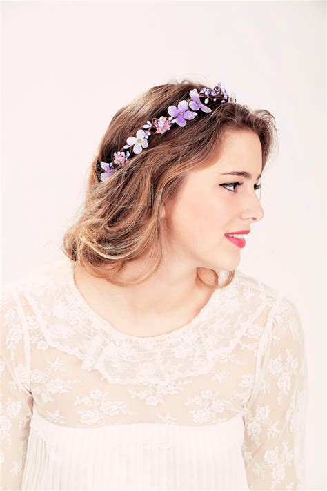 Bridal flower crown Purple flower woodland wedding wedding