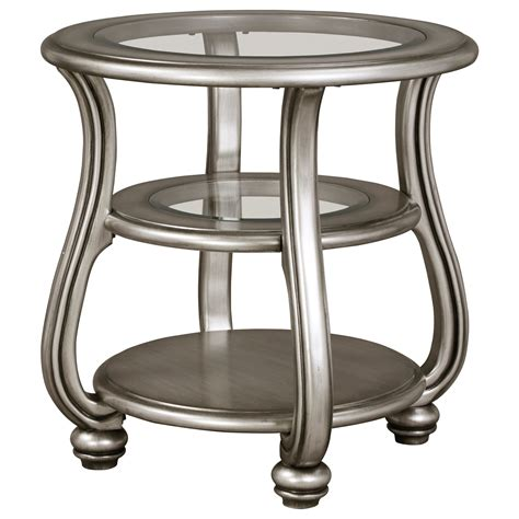 ashley accent tables signature design by ashley coralayne t820 6 round end table northeast factory direct end