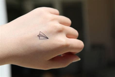 small tattoos for your hand paper plane small spirit ink temporary the
