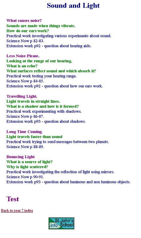 Light Worksheets Ks3 Images