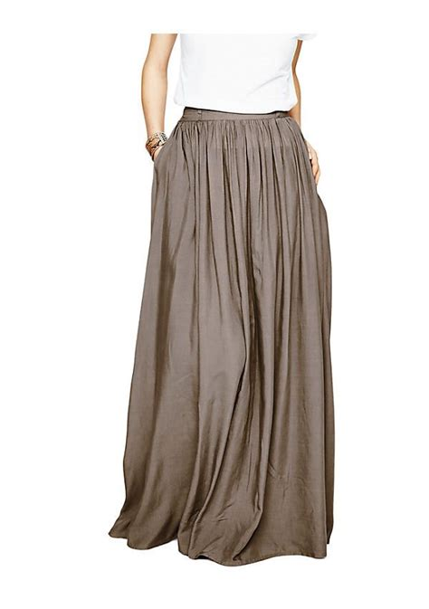 south cotton maxi skirt