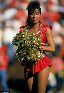 nfl cheerleader hair history of nfl cheerleader uniforms and their hairstyles