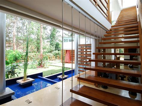 Modern Open Concept House In Bangalore Idesignarch Modern House Plans Open Concept