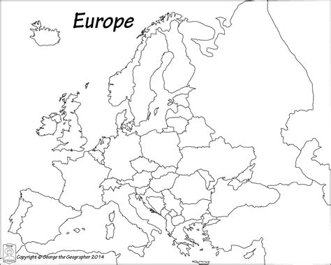 printable blank europe map outline map of europe political with free printable maps