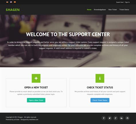 osticket mobile responsive bootstrap custom theme for osticket mods and