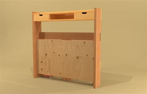 collapsible work bench made by design folding workbench plans