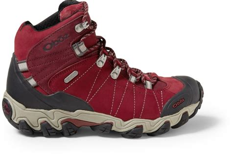 oboz bridger mid bdry hiking boots womens rei  op