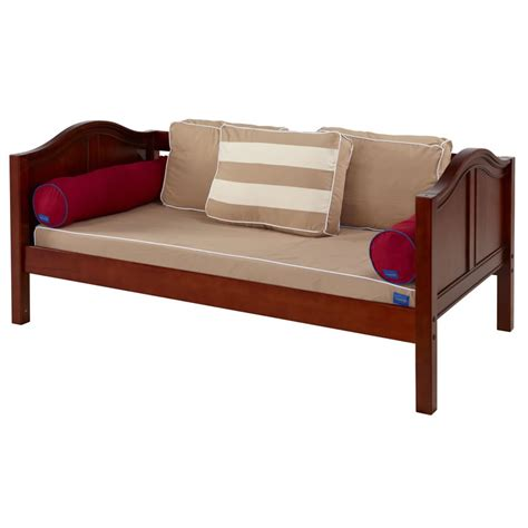 platform bed in chestnut with curved bed ends by maxtrix 200 daybed in chestnut with curved b 230