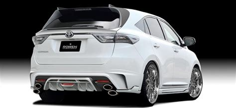 new sports speedicars toyota harrier tuned toyota harrier by rowen looks like a sporty lexus rx