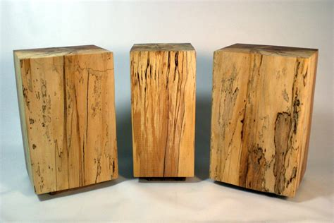 wood block end table wilson creek woodsmithing timber block end tables